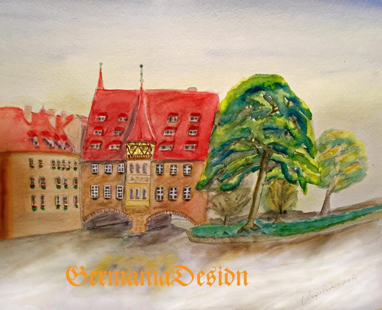 Heilig Geist Spital, Nuernberg painting
