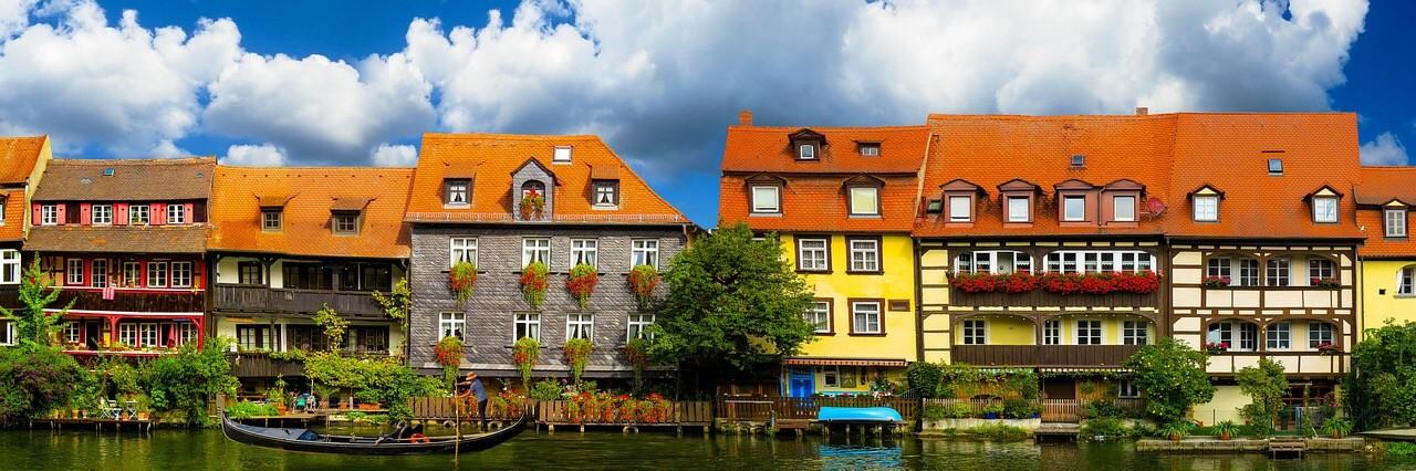 Bamberg, Lower Franconia, Bavaria, Riverfront