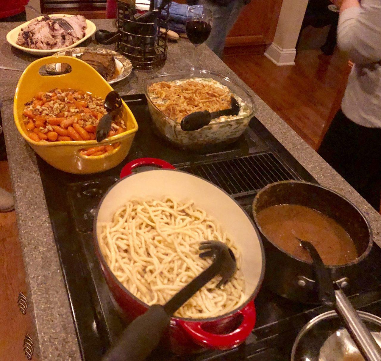 Dinner buffet, Glazed Carrots with Walnuts