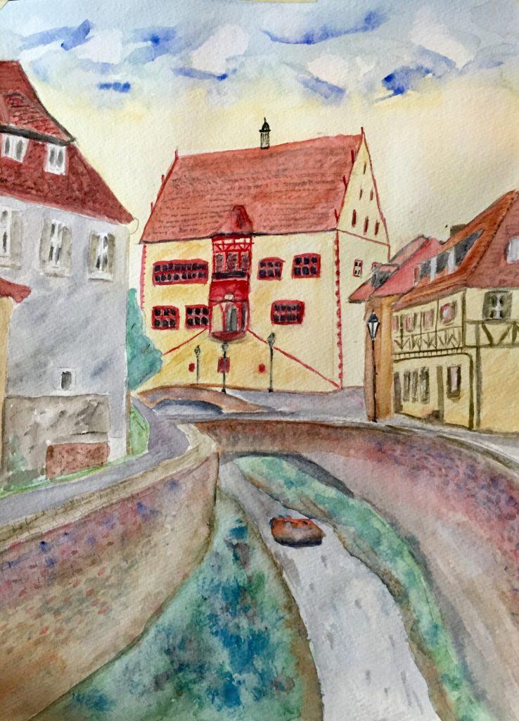 Dettelbach, Am Bach painting