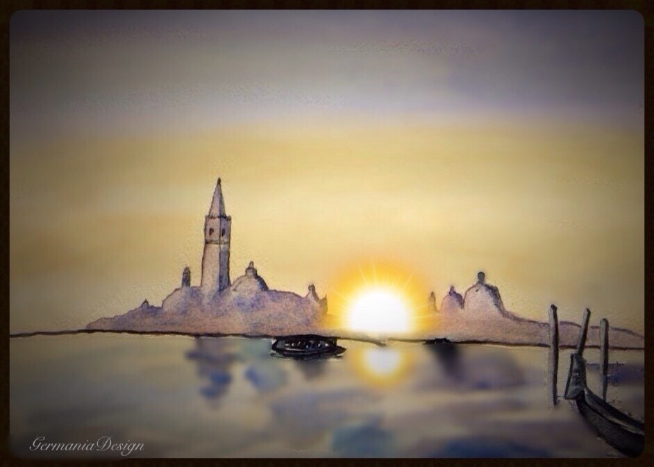 Venice sunrise painting